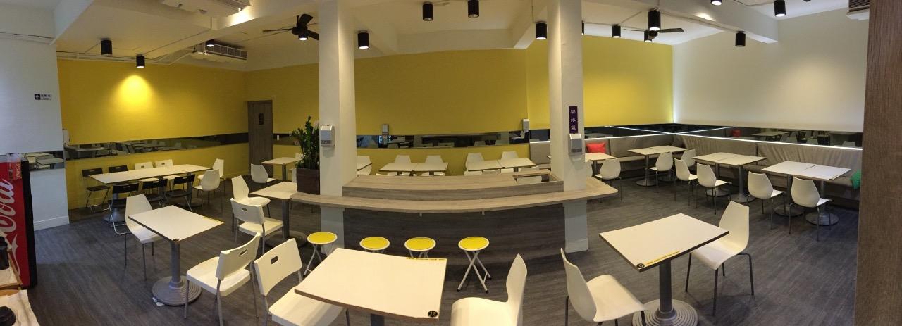 玖食益加:新店寬敞的交流空間