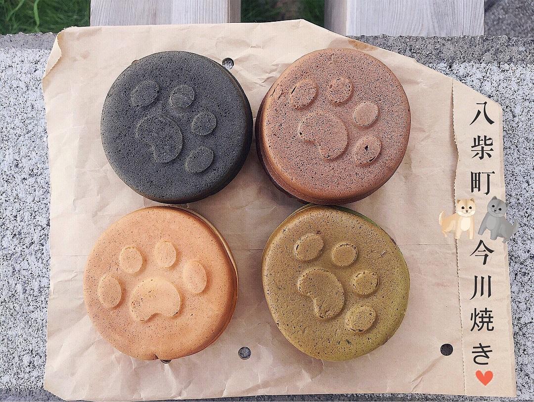台南萌度爆表超Q【柴犬掌】 馬卡龍色日本甜點「今川燒」 熱賣中