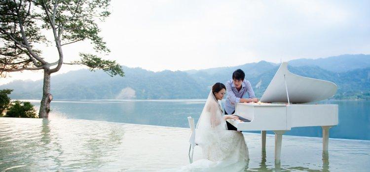 【情人節首選】漂在湖上的鋼琴!苗栗「勻淨湖」法式餐廳 超浪漫!