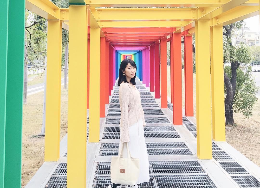 全台最長「彩虹隧道」超萌不二良小鼠【新營美術園區】!