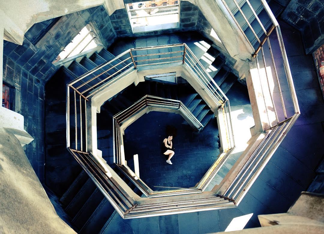 穿越時空的「迴旋樓梯」! 宜蘭頭城【濱海森林公園瞭望台】