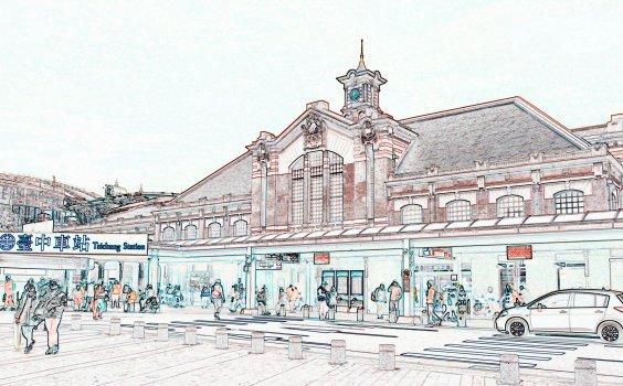 【Sketchwalk A】走一趟臺灣大道,飽覽日式建築與羅馬古典建築的台中小旅行