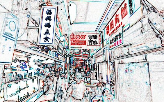 【Sketchwalk D】柳岸觀鯉,新富町尋覓市場百味,新舊交融共譜美好臺中
